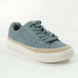 G By Guess Medium Blue Denim Espadrille Style